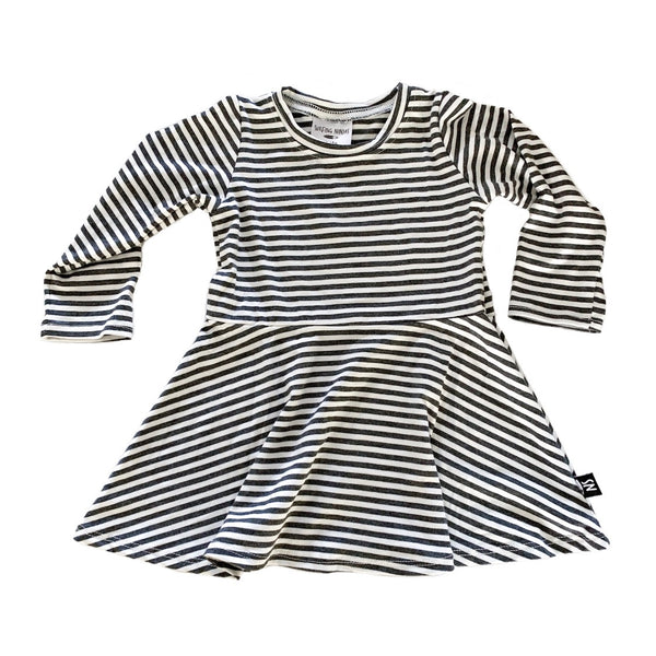 Striped CHARCOAL Dress (w/ leopard heart?)