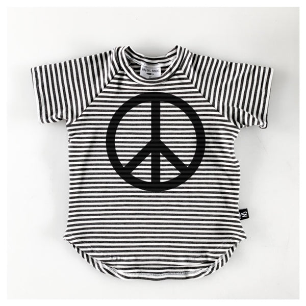 PEACE STRIPE TEE