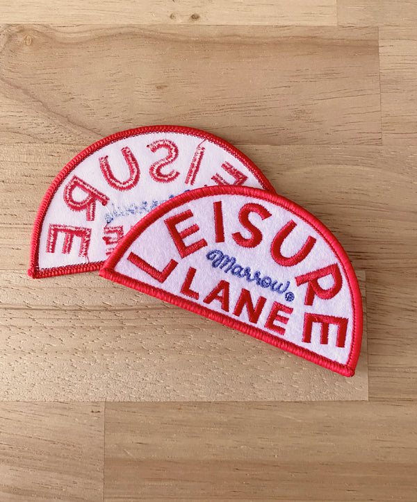 Leisure Lane iron-on patch