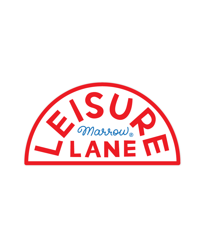 Leisure Lane sticker
