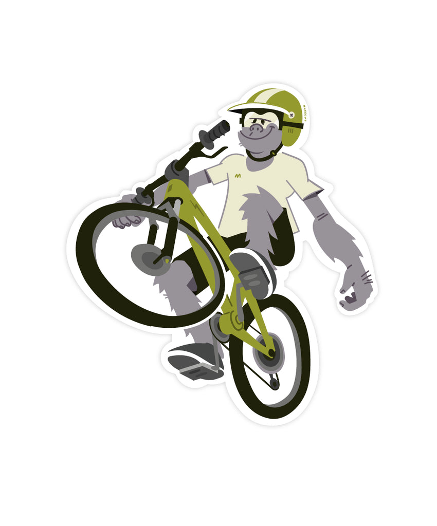 Monkey Wheelie sticker