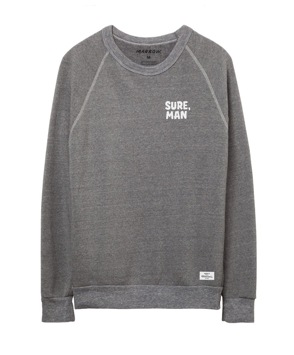Women's Sure, Man Fleece Sweatshirt