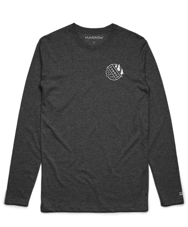 Merit Badge Long Sleeve Charcoal