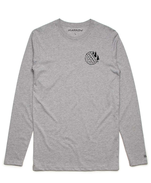 Merit Badge Long Sleeve Grey