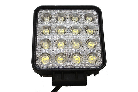 "WHACKER - 4"" SQUARE 48 WATT LED WORK LIGHT (3100 LUMEN) (FLOOD) - Lightbar City"