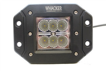 WHACKER - INSET SQUARE 18 WATT LED WORK LIGHT (1100 LUMEN)