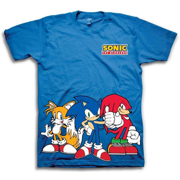 c3b2d146e24f Sega Boys Sonic The Hedgehog Shirt - Featuring Sonic, Tails, and Knuckles -  The ...
