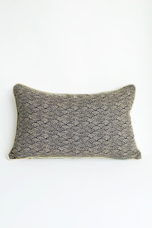 Japanese Scallop Print Pillow