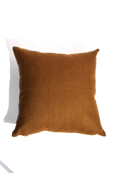 Gold Linen Square Pillow