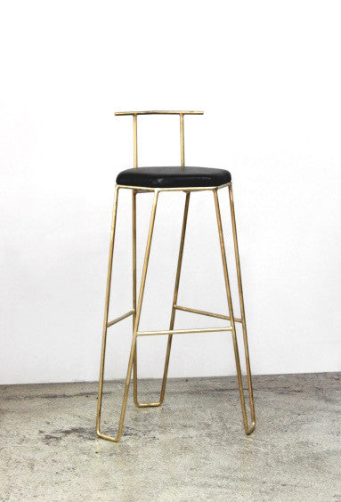 J1 Studio: Bar Height Bar Stool with Backrest