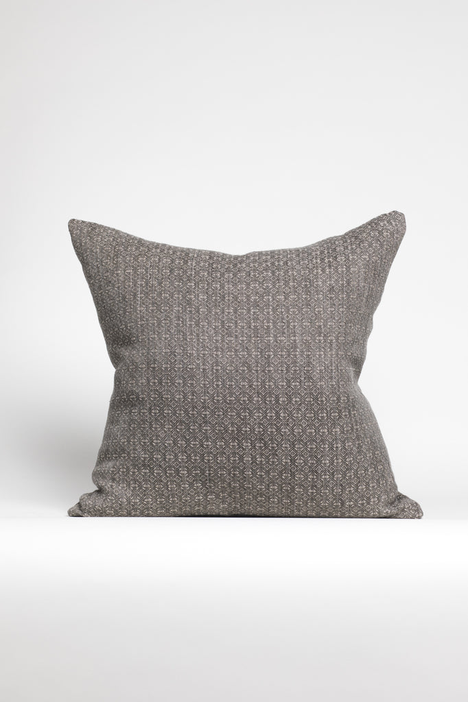 Grey and Creme Textured Knit Pillow