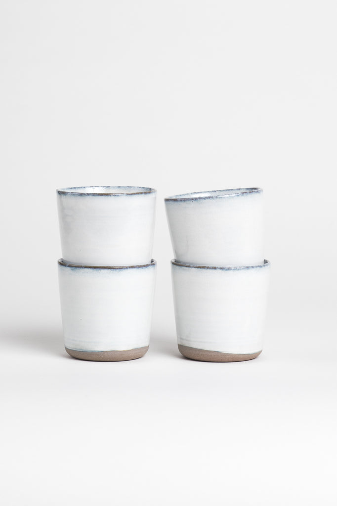 White and Blue Ceramic Cups