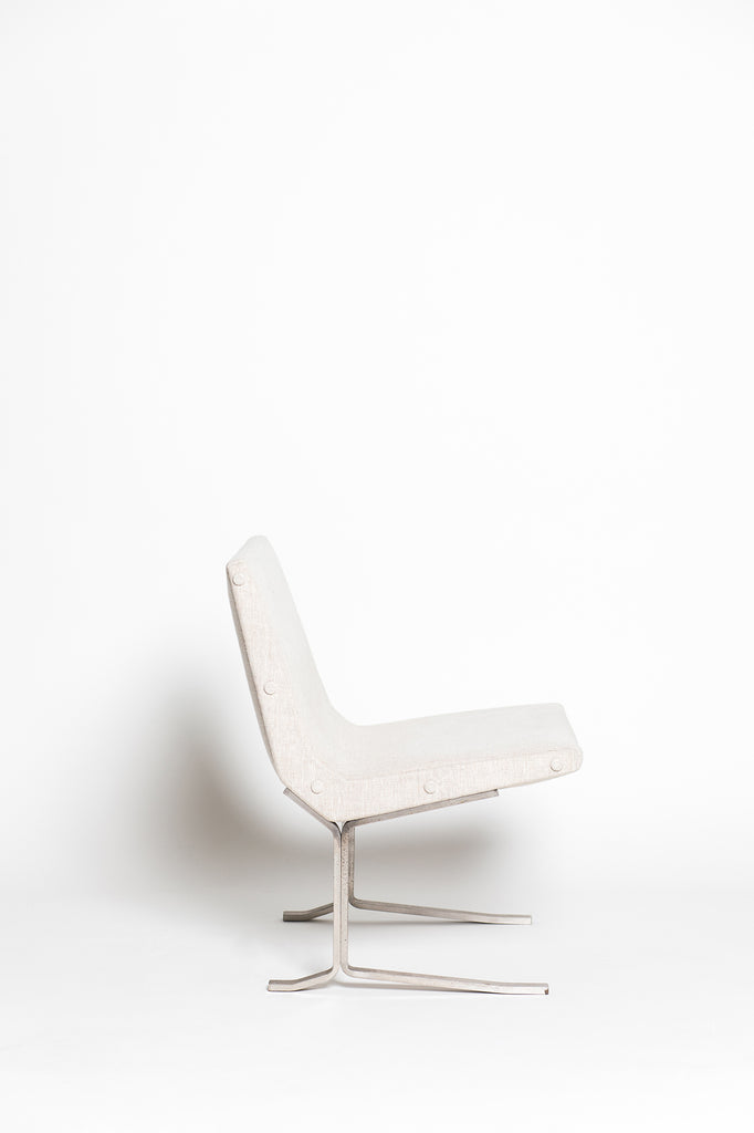 Linen Lounge Chair by Gianni Moscatelli