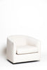 Linen Swivel Club Chair