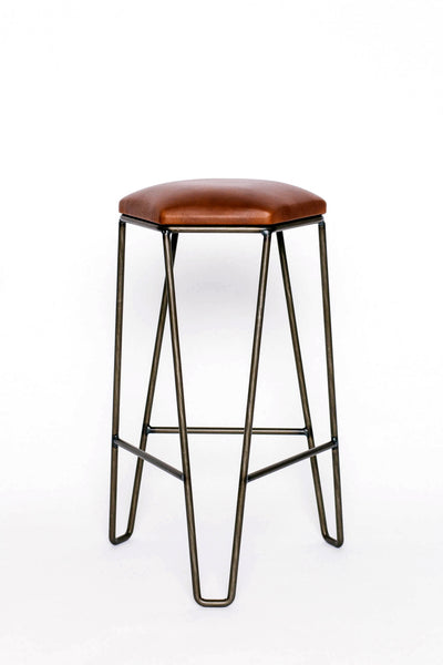 J1 Studios: Counter Height Bar Stool in Brass