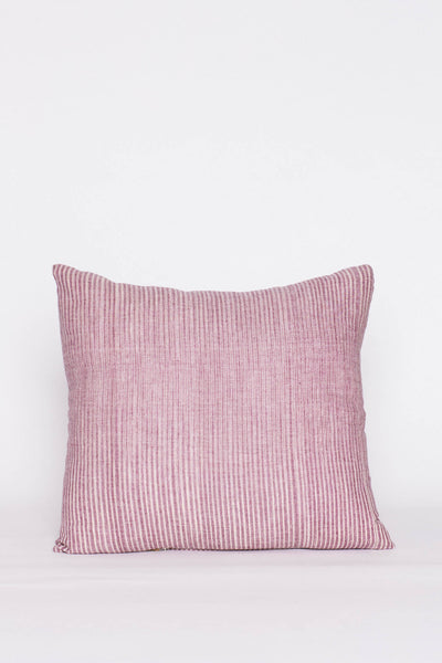 Violet Striped Square Pillow