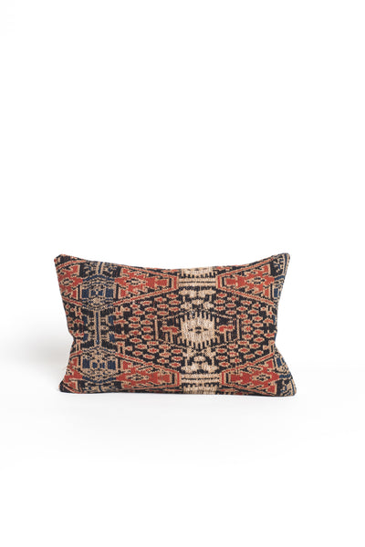 Patterned and Striped Textile Kidney Pillow