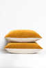 Curry Gold Velvet Pillow