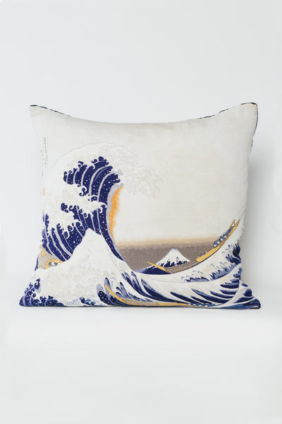 Japanese Silk Wave Pillow