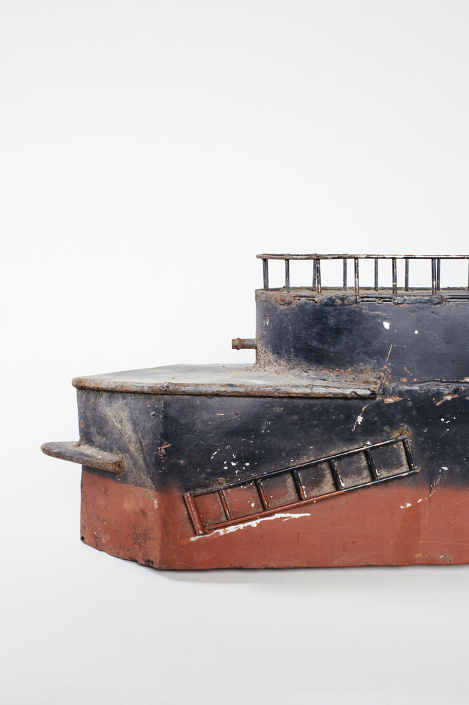 Vintage Metal Steamboat