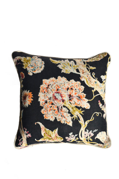Blue Floral Square Pillow