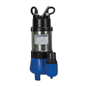 BIA-B25VAS2 - PUMP SUBMERSIBLEDIRTY WATER WITH FLOAT 150L/MIN 7.5M 250W 240V