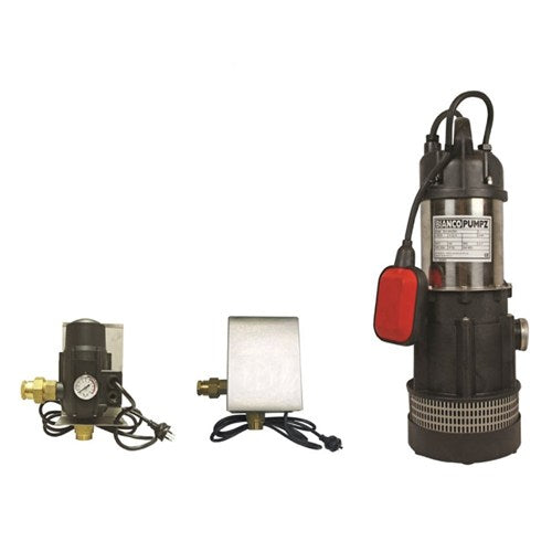BIA-B42AMPCX - PUMP SUBMERSIBLE CLEAN WATER WITH AUTO PUMP CONTROL 105L/MIN 32M 550W 240V
