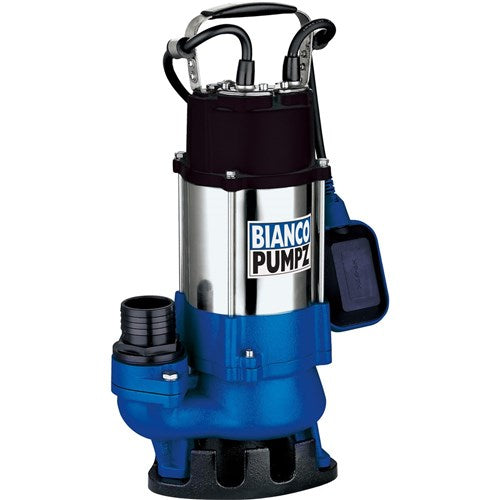 BIA-B75VAS2 - PUMP SUBMERSIBLEDIRTY WATER WITH FLOAT 300L/MIN 12M 750W 240V