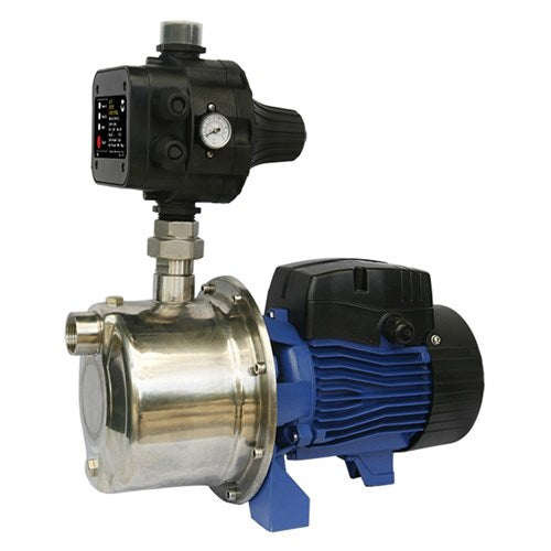 BIA-INOX90S2MPCX - PUMP SURFACE MOUNTED CLEAN WATER WITH AUTO PUMP CONTROL 46M 68L/MIN 240V 450W