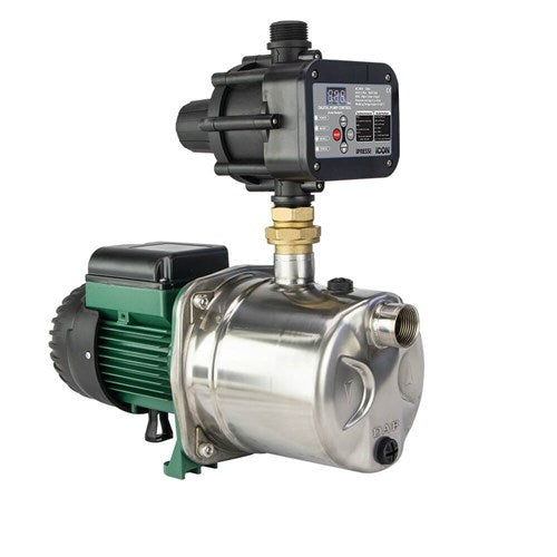 DAB-JINOX62MPCI - PUMP SURFACE MOUNTED JET WITH BUILT IN AUTOMATIC iPRESS CONTROL 45L/MIN42M