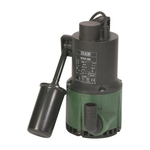 DAB-NOVA180A - PUMP SUBMERSIBLE WASTEWATER WITH FLOAT 80L/MIN 4.8M 0.22KW 240V