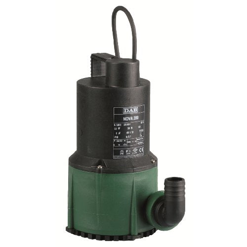 DAB-NOVA200 Submersible Drainage Pump 0.22kW 240V Max Head 6.6m Max Flow 200 lpm (NoFloat)