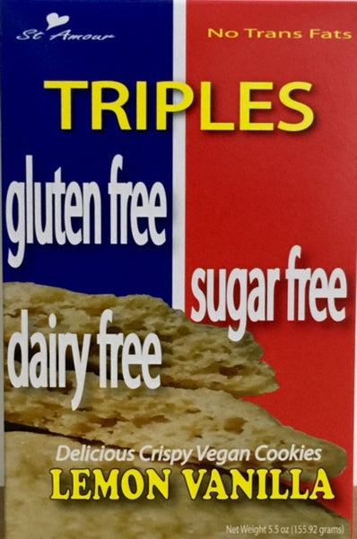 Triples - Triple Free cookies - Lemon Vanilla - Healthy Cookies Direct