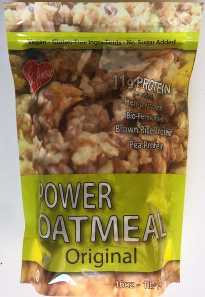 Power Oatmeal - Original - No sugar added ( Pack of 3 x 16oz stand up pouches)