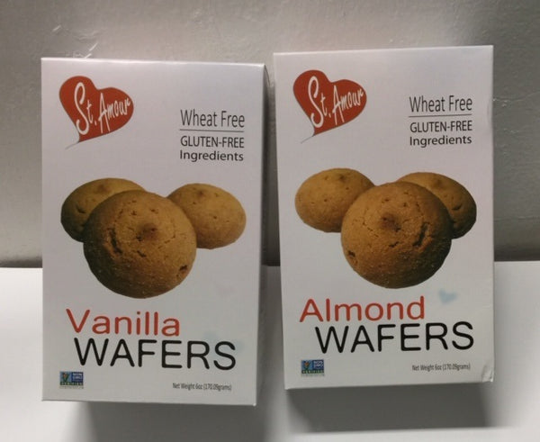 St Amour WAFERS - Almond Orange - Gluten Free