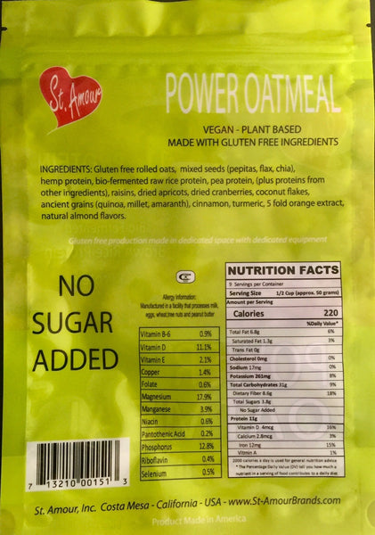 Power Oatmeal - Original - Vegan - no sugar added - gluten free