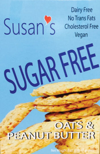 Susan's Sugar Free Vegan Cookies - Peanut Butter - Healthy Cookies Direct - 1