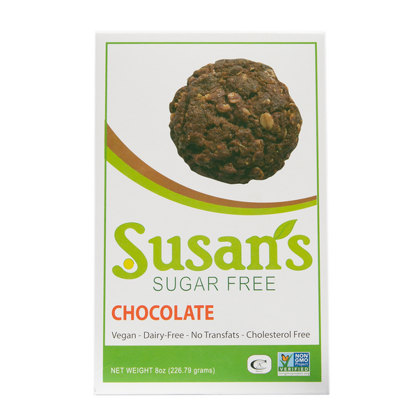 Susan's Sugar Free Vegan cookies - Chocolate