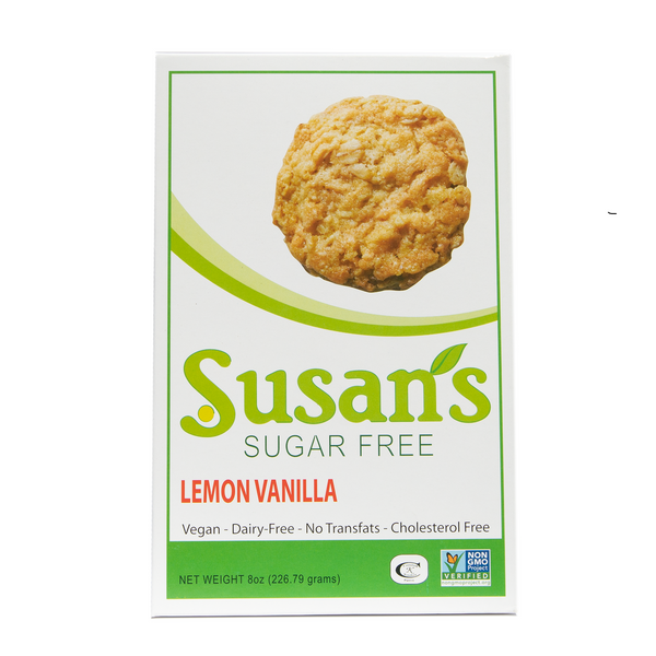 Susan's Sugar Free Vegan Cookies - Lemon-Vanilla