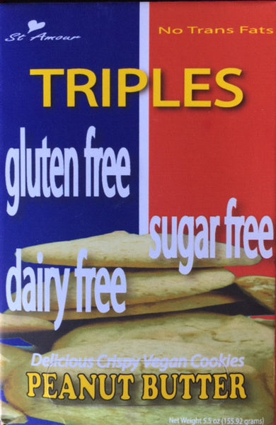 Triples - Triple Free cookies - Peanut Butter - Healthy Cookies Direct