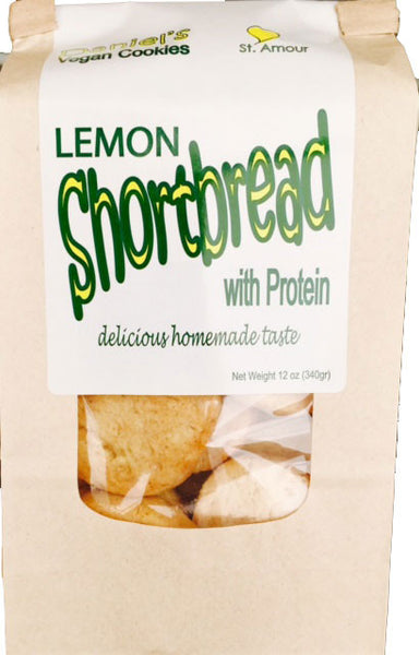 DANIEL'S VEGAN - Lemon Shortbread - with protein - Healthy Cookies Direct