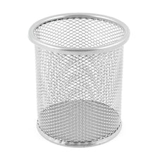 Load image into Gallery viewer, Metal Mesh Desk Pen Holder Black Silver 0013 (Parcel Rate)
