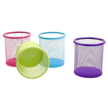 Load image into Gallery viewer, Stationery Pen Pots Assorted Colours Mesh 0014 (Parcel Rate)