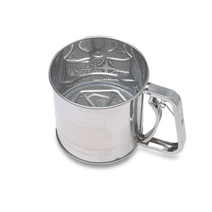 Stainless Steel Flour Sifter Easy Squeeze Trigger Handle Fine Flour Sifter 10 x 10cm  (Parcel Rate)