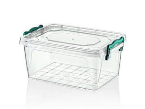 Hobby Multipurpose Kitchen Use Plastic Clear Food Storage Rectangle Box 5 Litre 021101 (Parcel Rate)