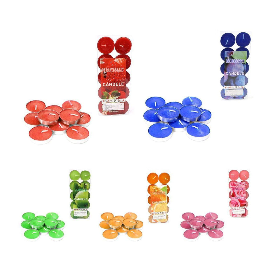 Plain Wax Scented Tealight Candles Assorted Aromatic Fragrance  10 Pack  0230 (Large Letter Rate)