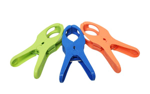 Pack Of 6 Colourful Big Clips Pegs For Beach Chairs Clothes 12cm 03618 (Parcel Rate)