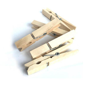 10 Pack Wooden Pegs Outdoor Garden Air Dryer Washing Line Pegs 9.5cm 0372 (Large Letter Rate)