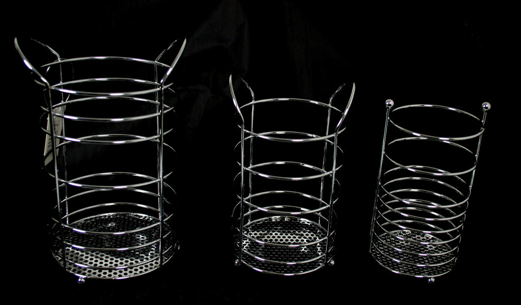 Metal Spoon Basket Cutlery Strainer Type Basket 3 Pack 3 Sizes Metal 0876 (Parcel Rate)