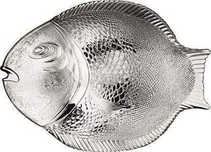 Marine Clear Glass Fish Style Shaped Fancy Small Service Plate 27cm x 20cm 6 Pack 10257 (Parcel Rate)